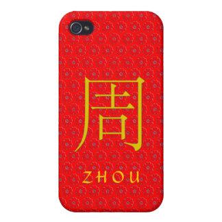 Monograma de Zhou iPhone 4 Funda