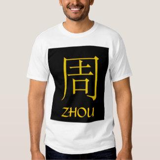 Monograma de Zhou Playera