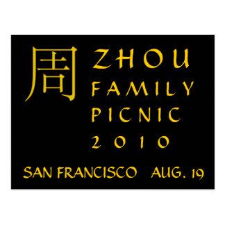 Monograma de Zhou Tarjetas Postales