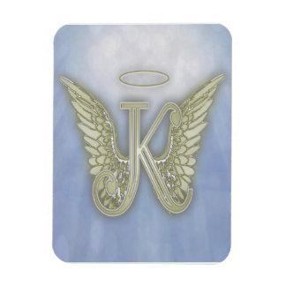 Monograma del ángel de la letra K Iman