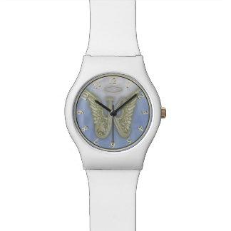 Monograma del ángel de la letra K Reloj