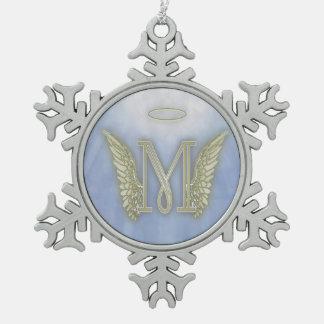 Monograma del ángel de la letra M Adornos