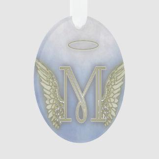 Monograma del ángel de la letra M