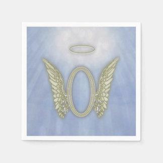 Monograma del ángel de la letra O Servilleta De Papel