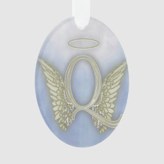 Monograma del ángel de la letra Q