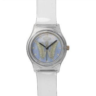 Monograma del ángel de la letra W Relojes De Pulsera