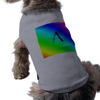 Monograma del arco iris camisas de mascota
