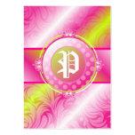 monograma del azúcar de la cal 311-Pink Plantillas De Tarjetas De Visita