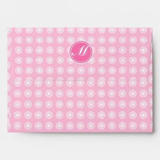 Monograma del caramelo de algodón sobres