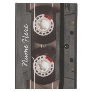 Monograma del casete de cinta de los años 80 del