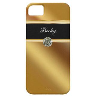 Monograma del caso del iPhone 5 de la joya iPhone 5 Case-Mate Protector