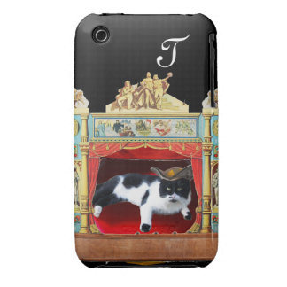 Monograma del CAT del TEATRO de la MASCARADA del Funda Para iPhone 3