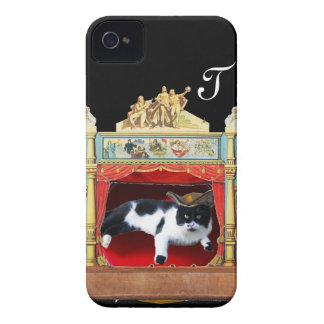Monograma del CAT del TEATRO de la MASCARADA del Funda Para iPhone 4