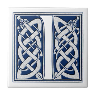 Monograma del Celtic I Azulejo Cuadrado Pequeño
