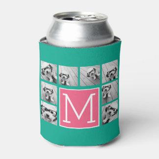 Monograma del collage del trullo y de la foto de enfriador de latas