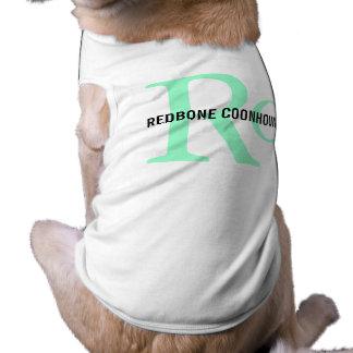Monograma del Coonhound de Redbone Playera Sin Mangas Para Perro