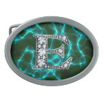 """Monograma del """"diamante"""" de E en el rayo Hebillas Cinturon"""