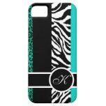 Monograma del estampado de animales del leopardo y iPhone 5 carcasa