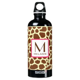 Monograma del estampado de girafa
