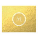 Monograma del fondo de la hoja de oro del encanto comunicados personalizados