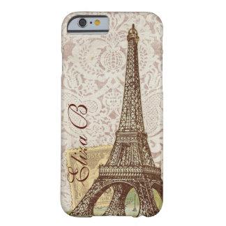 monograma del francés de la torre Eiffel de París Funda Para iPhone 6 Barely There