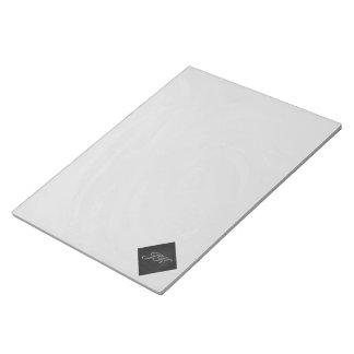 Monograma del gris de pizarra blocs de papel