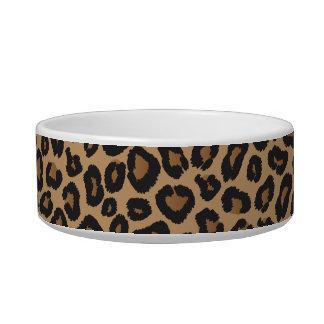 Monograma del leopardo comedero para mascota