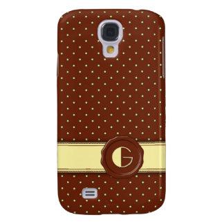 Monograma del lunar de la tienda del chocolate - G Funda Para Galaxy S4