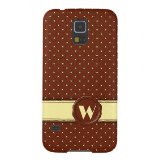 Monograma del lunar de la tienda del chocolate - W Carcasa De Galaxy S5