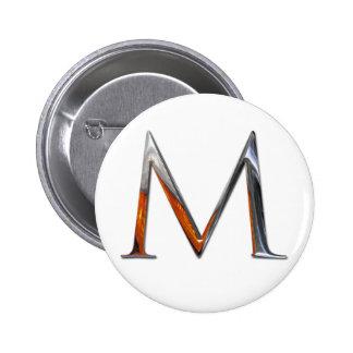 Monograma del metal M Chapa Redonda 5 Cm