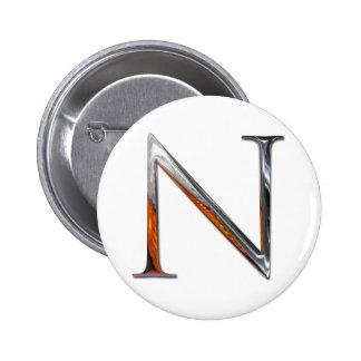 Monograma del metal N Chapa Redonda 5 Cm