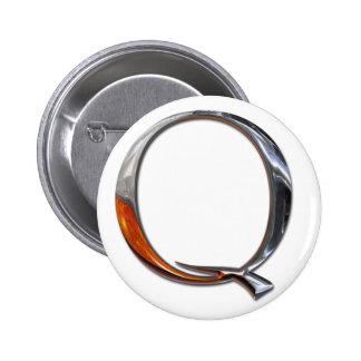 Monograma del metal Q Chapa Redonda 5 Cm
