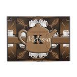 Monograma del mosaico del café del café del café iPad mini cobertura