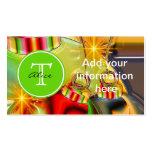 Monograma del navidad plantilla de tarjeta de visita