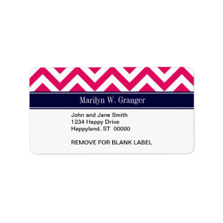 Monograma del nombre de los azules marinos de LG Etiquetas De Dirección