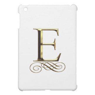 """Monograma del oro"""" E"""" del VIP"""