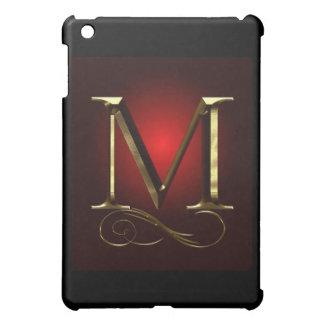 """Monograma del oro """"M"""" del VIP en rojo y negro"""
