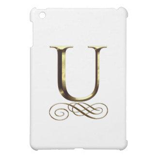 """Monograma del oro"""" U"""" del VIP"""
