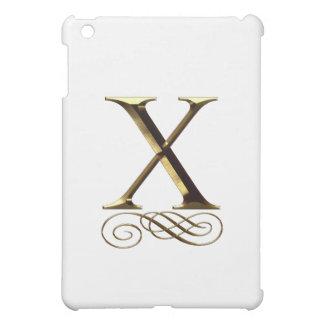 """Monograma del oro """"X"""" del VIP"""