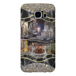 Monograma del paisaje urbano de Collap Fundas Samsung Galaxy S6
