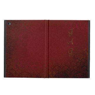 Monograma del papel pintado del damasco del