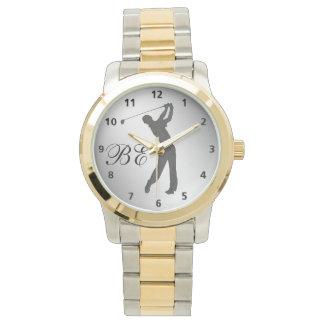 Monograma del personalizable del libertino del reloj de mano