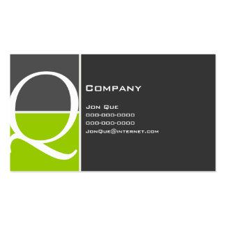 Monograma del personalizado 127 plantilla de tarjeta personal