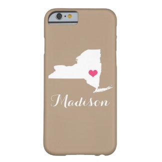 Monograma del personalizado de Brown de la moca Funda Barely There iPhone 6