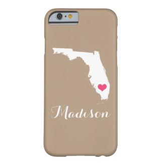 Monograma del personalizado de Brown de la moca Funda Para iPhone 6 Barely There