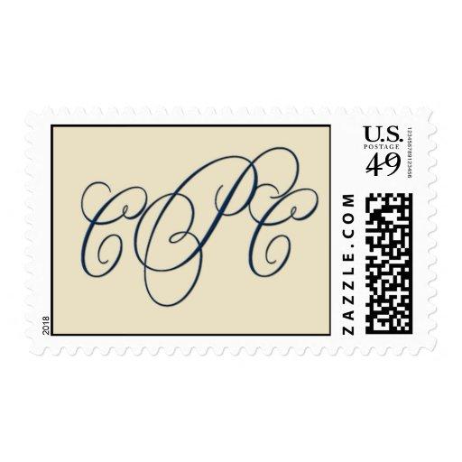 Monograma del personalizado de la crema y de la envio