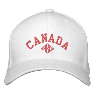 Monograma del personalizado de la gorra de béisbol