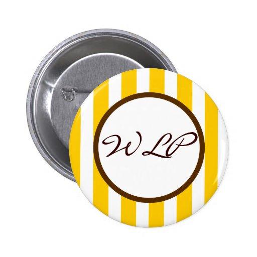 Monograma del personalizado de la raya de Beverly  Pins