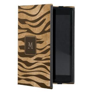 Monograma del personalizado del animal salvaje de iPad mini protector