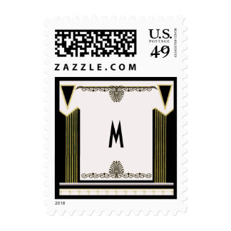 Monograma del personalizado del art déco del sello